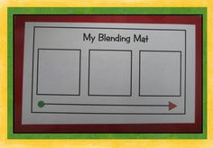 Kindergarten Crayons: Phonics blending mat (meant to be laminated and used with dry erase markers)