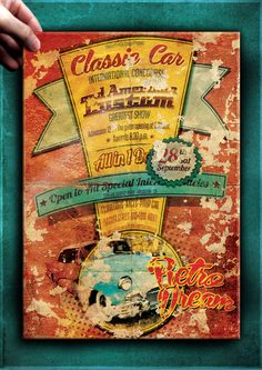 """The Flyer Poster Templates """"Vintage Car Vol. 10"""" You'll find it on my website www.thecreativecat.it"""