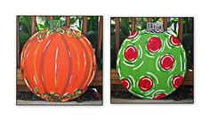 Reversible Door Hanger Stacked by TheWaywardWhimsy on Etsy