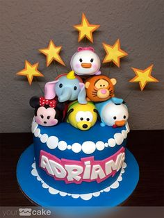 Your Cake. Tarta Tsum Tsum Disney. Fondant Pinterest | https://pinterest.com/ensupunto1/