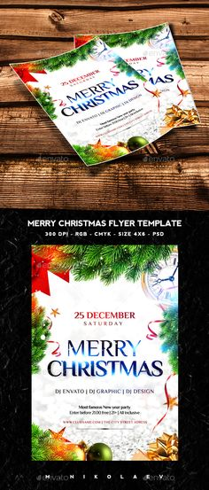 Merry Christmas Flyer — Photoshop PSD #christmas tree #christmas design • Available here → https://graphicriver.net/item/merry-christmas-flyer/13497121?ref=pxcr