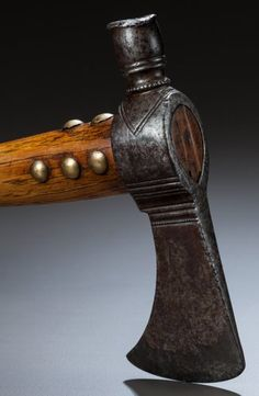 American Indian Art:Pipes, Tools, and Weapons, A GREAT LAKES PIPE TOMAHAWK. c. 1760...