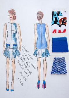 Etrala London Fashion Illustration sketches drawings