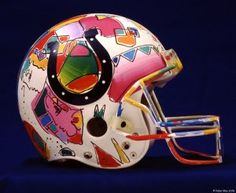 Indianapolis Colts helmet by Peter Max