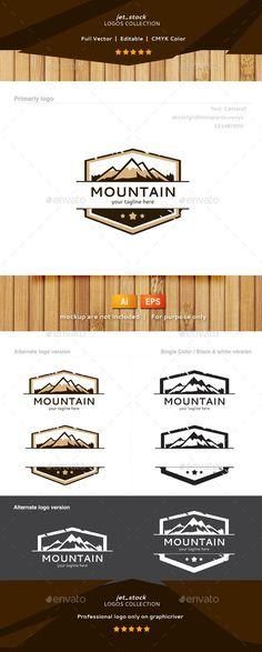 Mountain - Logo Design Template Vector #logotype Download it here: http://graphicriver.net/item/mountain-logo/9770470?s_rank=203?ref=nexion