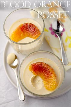 Blood orange posset - a decadent gluten-free, egg-free dessert with only three ingredients!  |  cooksister.com