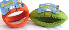 Dog Grubber Large Football & Large Rugby Ball Tough, Heavy Duty, Rubber, Dog Toy #HappyPet