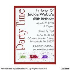 Butterflies high heel 35th birthday invite butterfly birthday personalized 65th birthday party invitation filmwisefo