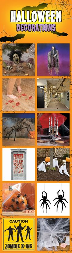If you're looking to create a creepy front-yard scene for trick-or-treaters, a terrifyingly fun haunted house, or a memorably spooky party, we have decorations that can help! From zombies clawing their way back to life to 13-inch hairy spiders with light-up eyes, our inventory is packed with the scariest Halloween decorations on the web.  Come check them out at Discount Party Supplies...if you dare! http://www.discountpartysupplies.com/holiday-parties/halloween/halloween-decorations
