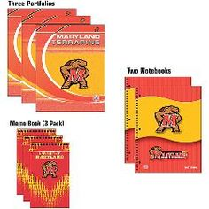 John F. Turner Maryland Terrapins NonDated Combo Pack (portfolios, notebooks, folders)