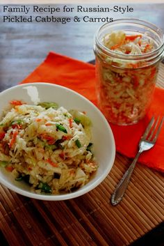 Russian-Style Pickled Cabbage and Carrots Recipe #Russian_recipes #Russian_food