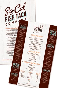 restaurant menu by Virginia Price, via Behance