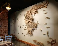 Australian Restaurant chain wall designed by End of Work