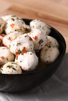 Marinated Mozzarella Balls: Those little mozzarella balls are a glorious sight on any party tray or platter.
