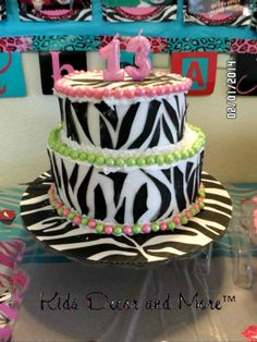 DIY birthday cake zebra tween teen girl