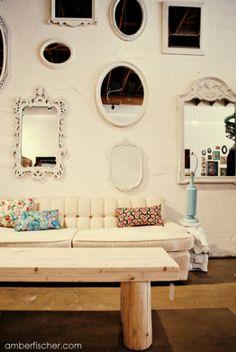 mirror mirror on the wall Interior Design Inspiration, Decor Interior Design, Interior Decorating, Decorating Tips, Beautiful Wall, Beautiful Eyes, Vintage Mirrors, Wall Spaces, Elle Decor