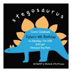 Sold 35 of these Stegosaurus Dinosaur Birthday Party Invitations