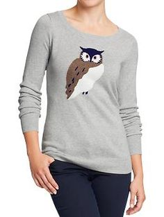 Women's Softest Printed-Crew Sweaters | Old Navy $29.94