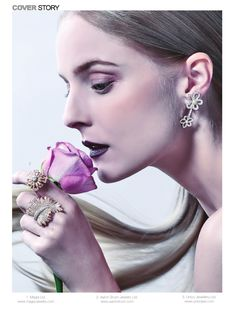 Established in Hong Kong Jewelry Manufacturers' Association (HKJMA) is an organization representative of jewelry manufacturers and exporters. Designer Collection, Fragrance, Winter Wonderland, Hong Kong, Earrings, Magazine, Models, Jewellery, Image