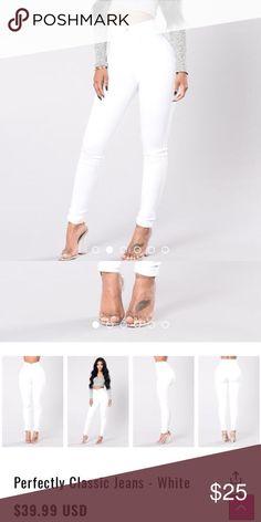 White high waist pants from fashion nova Never used still wrapped new Fashion Nova Pants Skinny