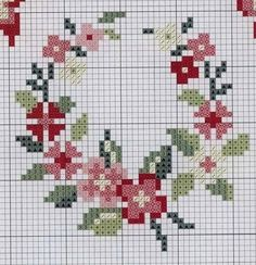 Wreath cross stitch.