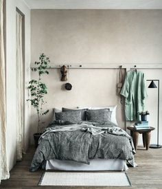 36 Stunning Modern Scandinavian Bedroom Design And Decor Ideas - Popy Home Bedroom Green, Cozy Bedroom, Home Decor Bedroom, Bedroom Ideas, Bedroom Inspiration, Bedroom Designs, Trendy Bedroom, Bedroom Bed, Earthy Bedroom
