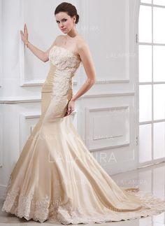 [US$ 191.99] Trumpet/Mermaid Court Train Wedding Dresses With Ruffle Lace Beading (002000059)