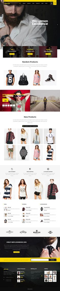 Lemon - A Clean and Smooth WooCommerce WordPress Theme #css3 #html5 #responsivedesign #uidesign #userexperience #wordpressthemes