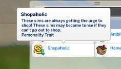 Mod The Sims - Sims 4 Shopaholic Trait Sims Four, Sims 4 Mm, Maxis, Sims Traits, Sims Packs, Sims 4 Game Mods, Sims 4 Gameplay, Play Sims, Sims 4 Cc Finds