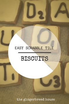 scrabble tile biscui