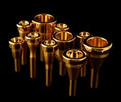 Monette mouthpieces,  24K gold plated