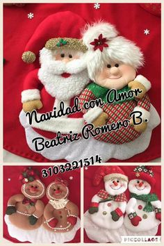 Amores navideños Christmas Projects, Christmas Wreaths, Christmas Decorations, Christmas Ornaments, Holiday Decor, Christmas 2016, Merry Christmas, Xmas, Christmas Gingerbread
