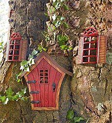 Elfin Tree Door And Accessories @Nancy Myers and @Renea Hinds