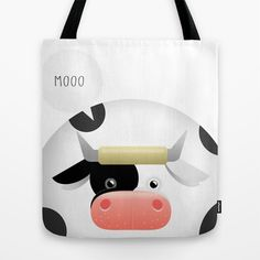 ANIMALS | COW Tote Bag by 7535C - $22.00