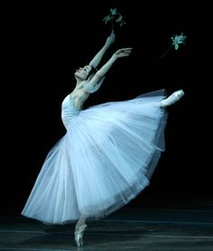 Olesia Novikova as a beautiful, ghostly Giselle in Act 2 of the Mariinsky Ballet's Giselle. Photo: Natasha Razina