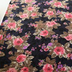 Multi Floral Knit Jersey 3 Half Yard Pieces by felinusfabrics, $11.00