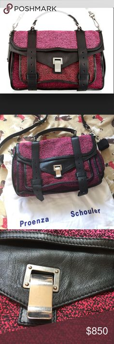 Proenza Schouler_PS1 bag_authentic Proenza Schouler_PS1 bag_100% Authenticcome with original rag and dust cover_in very good condition. But not brand new! If you consider, and want a brand new one,  please don't buy it. This is not the one you are looking for! Proenza Schouler Bags Shoulder Bags