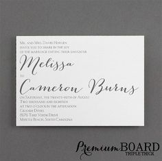 Contemporary Expressions #Wedding #Invitation