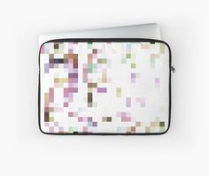 Pixels In Pastel Hues Art Board by ARTbyJWP from Redbubble #laptopsleeve #walldeco #artprints #buyart #artbyjwp #redbubble #pixels ---- Abstract pixelated background in colorful, pastel hues. • Also buy this artwork on stationery, apparel, stickers, and more.