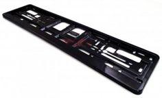 Podkładka ramka tablicy rejestracyjnej czarny mat