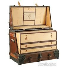 Image result for antique trunk with metal strapping