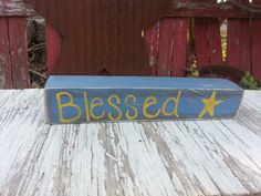 Blessed Block by thecountryshed on Etsy, $4.50