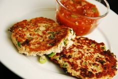 Pan Seared Tuna Patties with scallions, cilantro and jalapeno