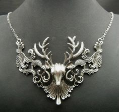 Antlers on necklaces — my favorite timeless jewelry picks featuring the beautiful branched horn of the deer. FREE SHIPPING USA