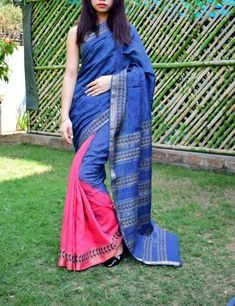 Handloom Maheshwari silk-cotton saree. Has a gorgeous hand block print patterns. Only at Rs 2999 COD, easy returns, International Shipping. Resellers can whatsapp on 9902488133