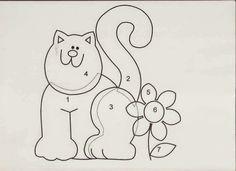Aplicaciones de gatitos para personalizar camisetas, toallas, cojines
