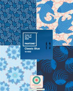 """Pantone just announced its choice for Pantone Color of the Year CLASSIC BLUE ! Here is how they describe it: """"Instilling calm, confidence, and connection, this enduring blue hue highlights our. Coral Pantone, Pantone 2020, Web Design, Graphic Design Trends, Blue Colour Palette, Blue Color Schemes, Pantone Colour Palettes, Pantone Color, Behr"""