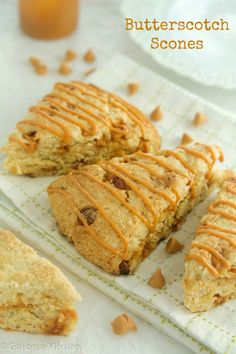 Mouthwatering Butterscotch Scones from @galmission #scones #butterscotch