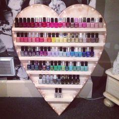 Nail varnish shelf i want it! and all the nail varnish on it!xx