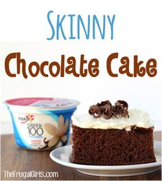 Craving a rich, decadent piece of Chocolate cake without the guilt? You'll LOVE this Skinny Chocolate Cake Recipe! Swap the oil for Greek Yogurt!